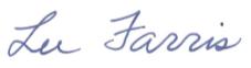 Lee Farris signature