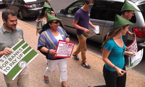 UFE at Robin Hood Tax Rally